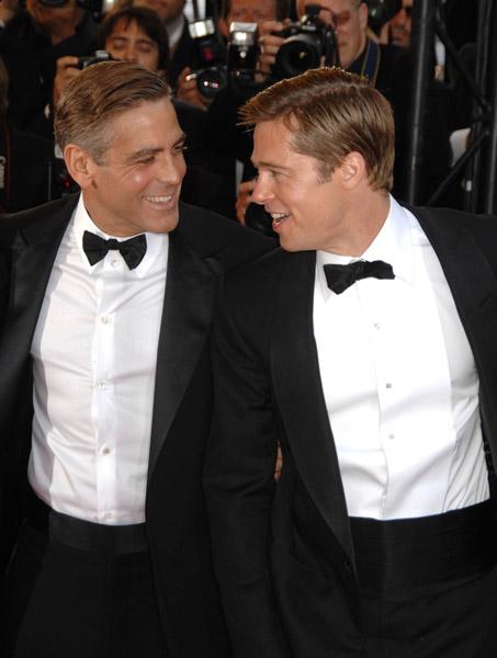 bromance brad pitt celebrities in tuxes tuxedos academy awards golden globes oscars awards ceremony male actors