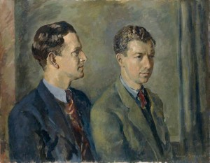 Peter Pears and Benjamin Britten, by Kenneth Green (1943)