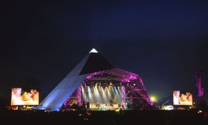 Pyramid stage at Glastonbury