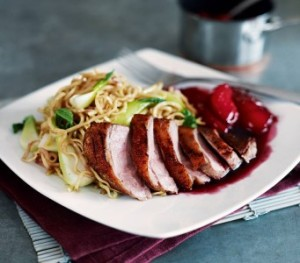 Crispy-five-spice-duck-with-noodles