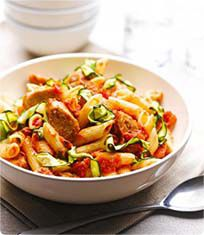 sausage-courgette-pasta